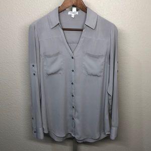 Express Convertible Sleeve Gray Portofino Shirt